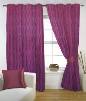 Fabutex Polyester Window Curtain (Single Curtain, 59 Inch/150 Cm In Height, Purple)