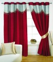 Fabutex Plain Crush Eyelrt Curtain Door Curtain