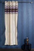 Opel Polyester White, Purple Door Curtain 213.36 Cm In Height, Single Curtain