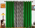 Dekor World Waves In The Air With Solid Door Curtain - Pack Of 3 - CRNDXM386ZRTGJR5