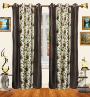 Decor Bazaar Panelled Flowers Door Curtain