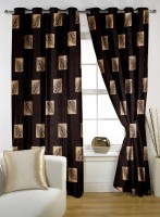 Story @ Home Polyester Brown Window Curtain 150 Cm In Height, Single Curtain - CRNE4ANHMFDUZJXT
