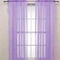 Magideal Polyester Purple Plain Curtain Door Curtain 200 Cm In Height, Single Curtain