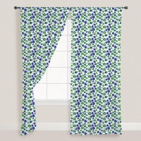 Smart Home Textile Cotton Green Door Curtain 210 Cm In Height, Single Curtain