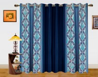 Dekor World Polyester Window Curtain (Pack Of 3, 59 Inch/150 Cm In Height, Blue) - CRNE4QQMUWFBFKYA
