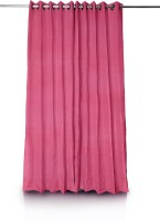 Just Linen Polyester Door Curtain (Single Curtain, 33 Inch/84 Cm In Height, Purple)