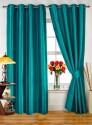 Dekor World Plain Turquoise Door Curtain