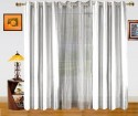 Dekor World Solid And Sheer Combo Door Curtain