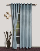 S9home By Seasons Polyester Blue Door Curtain 260 Cm In Height, Pack Of 2