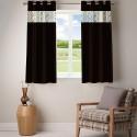 Fabutex Embroidered Peepin With Plain Crush Window Curtain