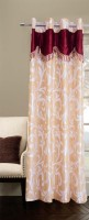 Trendy Home Polyester Beige Printed Eyelet Door Curtain 203.2 Cm In Height, Single Curtain
