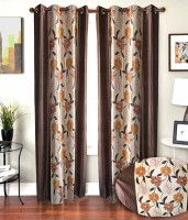 Hargunz Special Floral 9 Feet Door Curtain (Pack Of 2)