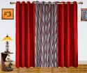 Dekor World Waves In The Air With Solid Door Curtain - Pack Of 3 - CRNDXM38WYDF2VGA