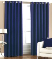 Sai Arpan Polyester Blue Door Curtain 213 Cm In Height, Single Curtain