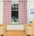 TT Poly Jucquard Weave Printed Window Curtain - Pack Of 2