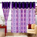 Cortina Print Drape Door Curtain - Pack Of 2
