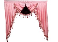 Jay Sati Kreations Polycotton Pink Plain Rod Pocket Door Curtain 109 Cm In Height, Single Curtain