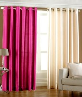 Hargunz Crush Long Door Curtain (Pack Of 2)