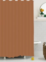 Bianca Cotton Brown Shower Curtain 180 Cm In Height, Single Curtain - CRNE6P4HDNHZRP5H