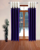 Homefab India Designer Lace Purple Door Curtain