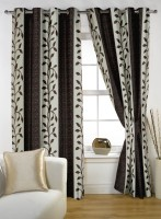Story @ Home Polyester Brown Window Curtain 145.2 Cm In Height, Single Curtain