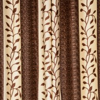 Story @ Home Polyester Coffee Abstract Tab Top Door Curtain 215 Cm In Height, Pack Of 2