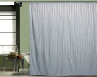 Just Linen Polyester Blue Door Curtain 178 Cm In Height, Single Curtain