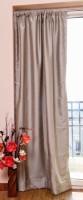 ZappyCart Polyester Steel Grey Solid Window & Door Curtain 305 Cm In Height, Single Curtain