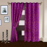 Story @ Home Story @ Home Polyester Maroon Printed Tab Top Curtain