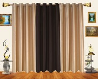 Decor Bazaar Alternate Solids Door Curtain (Pack Of 3)