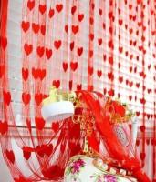 Handloomhub Net Red Door Curtain 205 Cm In Height, Pack Of 2