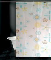 Tjar PVC Shower Curtain (170 Cm In Height, Single Curtain, Multicolor) - CRNE6FFFYJ38JRGQ