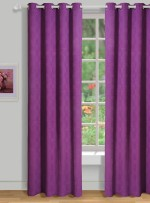 House This House This Cotton Purple Solid Tab Top Door Curtain