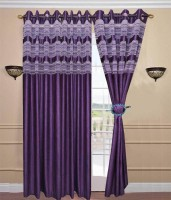 D?cor Vatika 100% Polyester Door Curtain (Pack Of 2, 84 Inch/214 Cm In Height)