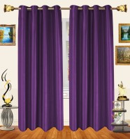 Decor Bazaar Violet Stream Window Curtain (Pack Of 2)