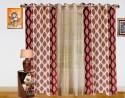Dekor World Double Damask Window Curtain - Pack Of 3