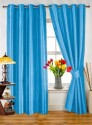 Dekor World Plain Blue Door Curtain - CRNDPDWH4N7FAYUZ