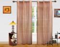 Dekor World Multi Stripe Sheer Door Sheer Curtain