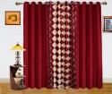 Dekor World Play With Checks Door Curtain - Pack Of 3