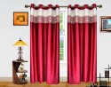 Dekor World Batik Jacquard Door Curtain - Pack Of 2
