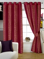 Story @ Home Polyester Beige Abstract Door Curtain 215 Cm In Height, Single Curtain