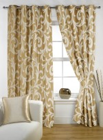 Story @ Home Story @ Home Polyester Beige Floral Door Curtain