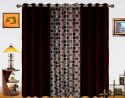 Dekor World Circle Bonanza With Solid Door Curtain - Pack Of 3 - CRNDXM38R5STHH5H