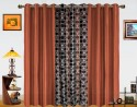 Dekor World Circle Bonanza With Solid Door Curtain - Pack Of 3 - CRNDXM387YRHURT9