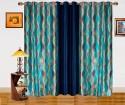 Dekor World Illusion Waves Window Curtain - Pack Of 3