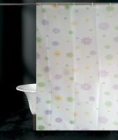 Tjar PVC Shower Curtain (170 Cm In Height, Single Curtain, Multicolor) - CRNE6FFFGFWXWWPD