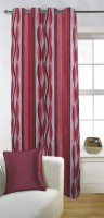 Fabutex Polyester Red Door Curtain 210 Cm In Height, Single Curtain