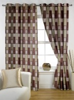 Story @ Home Polyester Brown Window Curtain 150 Cm In Height, Single Curtain