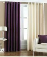 Neelgiri Cotton Multicolour Plain Curtain Window & Door Curtain 213 Cm In Height, Pack Of 2