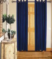 Spring Beautiful Solid Plain Set Of 2 Door Curtain Polyester Plain Solid Door Curtain Plain Eyelet Door Curtain 213 Cm In Height, Pack Of 2